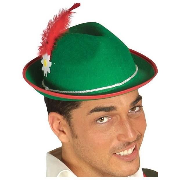 Sombrero Tirolés verde adulto